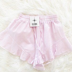 NEW LF SEEK THE LABEL Pink High Waisted Shorts S